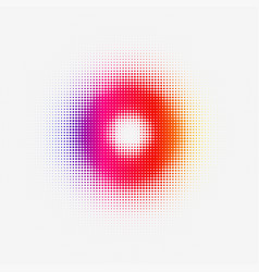 halftone colorful torus for web or print vector image vector image