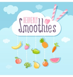 Heavenly smoothie logo concept vector image vector image