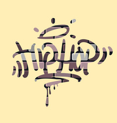 hip hop tag graffiti style label lettering on the vector image vector image