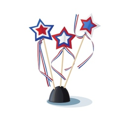 Image of American stars on the stand vector image vector image