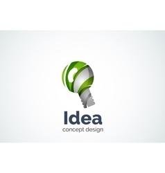 Light bulb logo template new idea energy or vector image