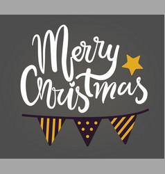 merry christmas congratulation vector image