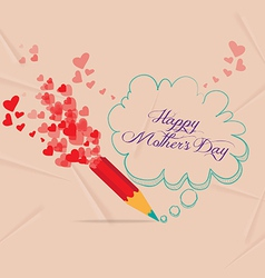 Mothers day with pencil drawing bubble card vector