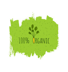 organic eco fresh vegan green design template vector image