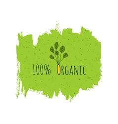 organic eco fresh vegan green design template vector image vector image