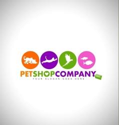Pet shop design concept vector