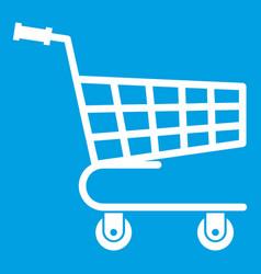 shopping cart icon white vector image