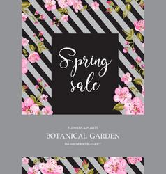 Spring flower card vector