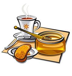 tea with honey vector image vector image