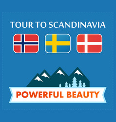 tour to scandinavia vector image vector image