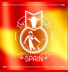 Traditional spanish corrida spain background vector