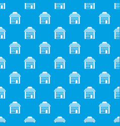 Two-storey house with sloping roof pattern vector