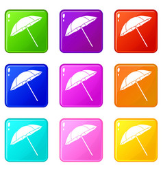 Umbrella set 9 vector
