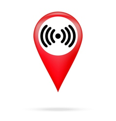 Wi fi icon in red pointer vector