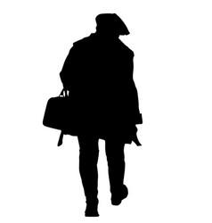 women silhouette walking vector image