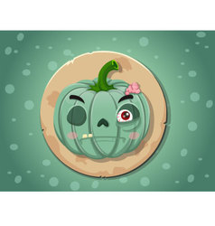 Zombie pumpkin icon vector