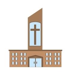 Catholic church building icon design vector
