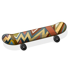 A skateboard with a paint vector