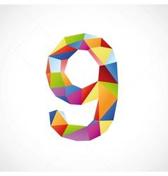 9 color vector image
