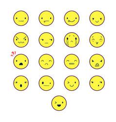 emoticons round color 2 vector image