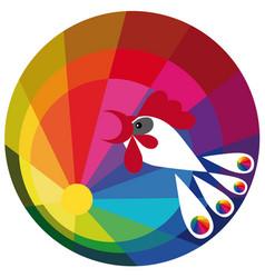 color spectrum paints vector image