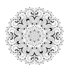 Monochrome lace pattern background vector
