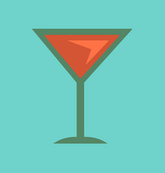 Flat icon on background martini glass vector