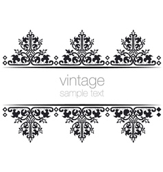 Black ornate vintage frames vector