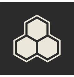 Hexagon icon honeycomb vector
