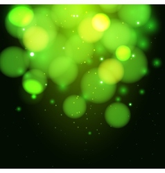 Green magic light background vector