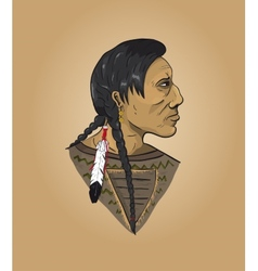 Indian man on brown background vector image