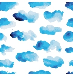 Watercolor clouds seamless pattern for your vector