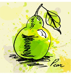 Stylized pear vector