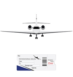 Airplane and ticket vector