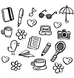 Doodle series - random1 vector