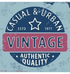 Casual urban vintage stamp vector