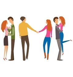 Couple of lovers collection vector image