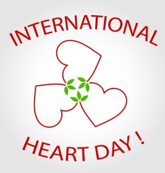 International heart day card vector
