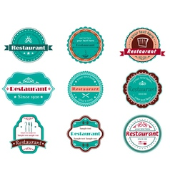 Food and restaurant labels vector image