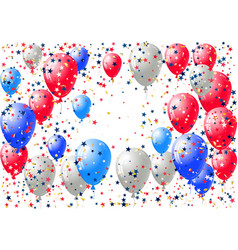 abstract background with scattered confetti and vector image
