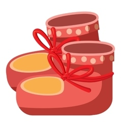Baby socks icon cartoon style vector image vector image