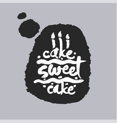 cake sweet cake in a speech bubble vector image