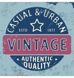 Casual urban vintage stamp vector image vector image