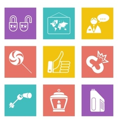 Color icons for Web Design set 35 vector image vector image