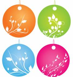 decorative badges vector image vector image