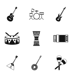 Device for music icons set simple style vector