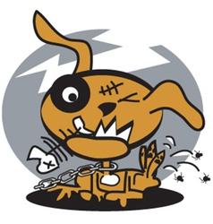 dog fleas vector image vector image