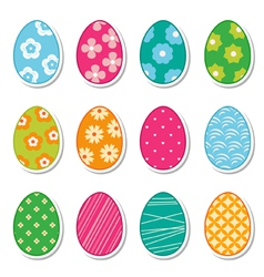 egg stickers vector image