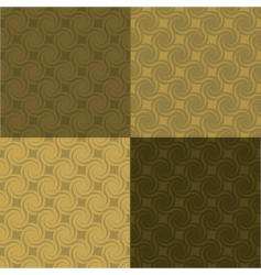golden swirl pattern multi vector image vector image