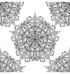 Handmade decorative ethnic seamless pattern vector